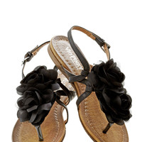 Day by Daydream Sandal in Raven | Mod Retro Vintage Sandals | ModCloth.com