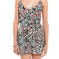 Cheetah Print Cami Strap Romper