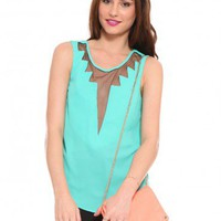 Jasmine Electric Tank - Teal - Tops - Clothes | GYPSY WARRIOR