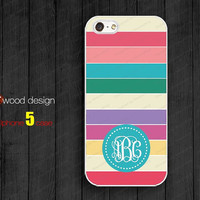 Iphone 5 case  Monogram geometric beautiful colors Iphone 5 case unique case Hard case iphone 4 case