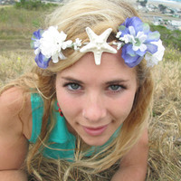 "Adjustable Flower Crown - ""The Mermaid Crown"""