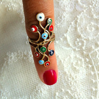 New Evil Eye Ring by takiperileri on Etsy