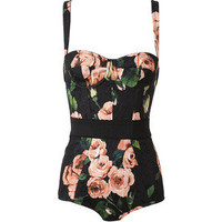 Cotton-Blend Floral Printed Body