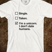 I'm a unicorn. I don't date humans.