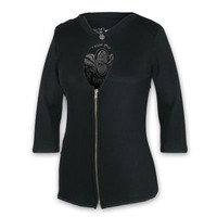 Grease, Gas and Glory Women's Zip Cardigan