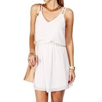 Ivory Double Strap Chiffon Dress