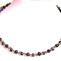 Black Pearl Necklace by WireHaven on Etsy