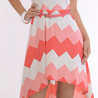 Sharply (Pink/Coral)-Great Glam is the web's best online shop for trendy club styles, fashionable party dresses and dress wear, super hot clubbing clothing, stylish going out shirts, partying clothes, super cute and sexy club fashions, halter and tube top