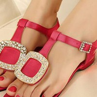 Ladies Flat Heel Fashion Summer Gladiator Sandals