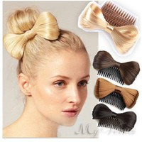 Hair Extension Bowknot Comb Clip Fashion Hairpiece