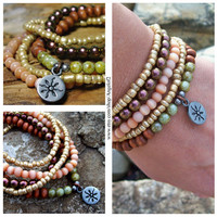 Peacock Copper - Stretch Bohemian Stackable Bracelets