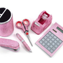 6 Piece Pink Crystal Office S...