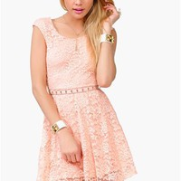 Count Crosses Dress - Peach