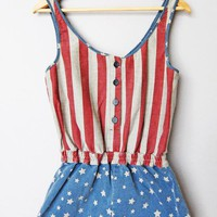 Denim USA Dungarees Playsuit - LoLoBu