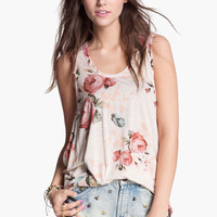 Painted Threads Diamond Back Cutout Print Tank (Juniors) | Nordstrom