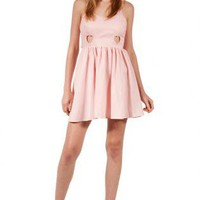 Pink Heart Cutout Dress