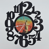 Handcrafted Vinyl Record Clock (artist is Supertramp)