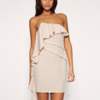 ASOS | ASOS One Shoulder Waterfall Dress at ASOS