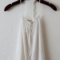 Bat An Eyelash Swing Tank, Ivory