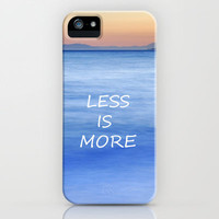 Less is more iPhone & iPod Case by Guido Montañés