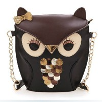 Cute Vintage Contrast Owl Satchel