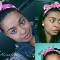 Pink and White Polka Dot Headband (Vinatge Inspired, Pin up Inspired )
