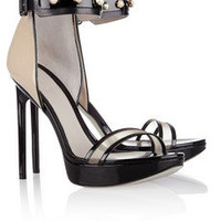 Jason Wu | Nadja faux pearl-embellished patent-leather sandals | NET-A-PORTER.COM