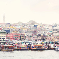 Istanbul photography, City photography, travel photography, dreamy photography, Art print 5x7