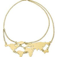 GOLD WORLD LINKS NECKLACE | World Map Jewelry | UncommonGoods