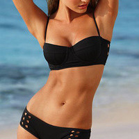 Black Fashion Sexy Hollow Bikini