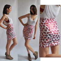 Valentines Red kiss lips  high waist women bandage by coyotepeyote