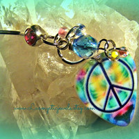 Bellyring Peace Sign, Piercing, Direct Checkout, Belly Button, Ready to Ship ,Beach ,Hippie, Bohemian. Rocker