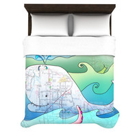 "Catherine Holcombe ""I'm on a Boat"" Duvet Cover 