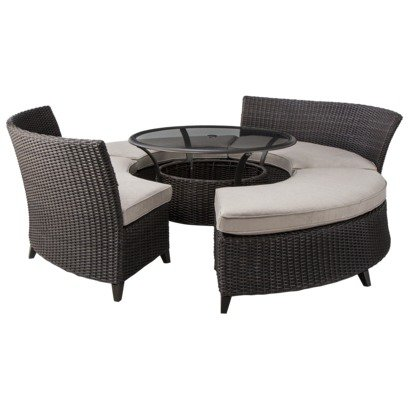 Threshold Belvedere 5 Piece Wicker Patio From Target