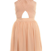 Pleat Bodice Cut Out Dress - View All - Dress Shop - Miss Selfridge US