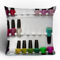 Bird Wanna Whistle Nail Polish Throw Pillow