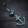 Anchor Gem Sparkle Belly Ring
