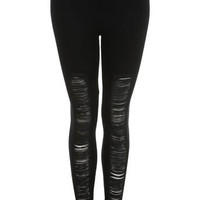 Black Fringe Legging - Miss Selfridge US
