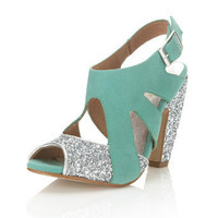 Clover Mint Green Heel - Heels - Shoes - Miss Selfridge US