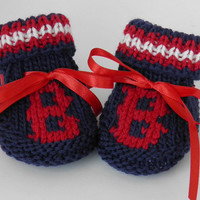 Boston Red Sox Super Fan MLB Booties Size 0 to 3 months