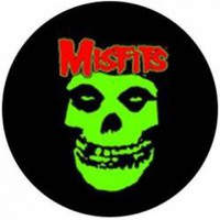 The Misfits Buttons - Green Skull