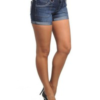 Stanzino Women's Plus Size Denim Shorts