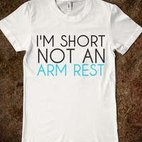 arm rest-Female White T-Shirt