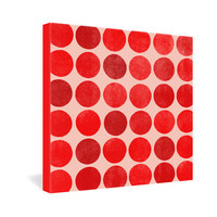 DENY Designs Home Accessories | Garima Dhawan Colorplay Red Gallery Wrapped Canvas