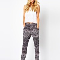 Vila Ikat Trousers at asos.com