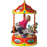 The Children's Carnival Carousel - Hammacher Schlemmer