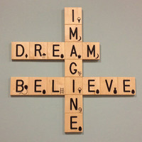 Imagine Believe Crossword Wall Art