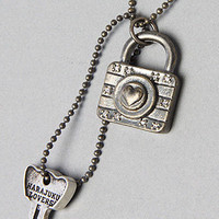 Karmaloop.com - Global Concrete Culture - The Glitter Girls Lock and Key Necklace by Harajuku Lovers