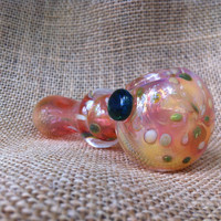 Pink Color Changing Glass Spoon Pipe by AirFire on Etsy