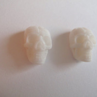 White Skull Earrings - Tiny studs